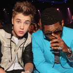 Justin Bieber and Usher at the 2012 Billboard Music awards in Las Vegas