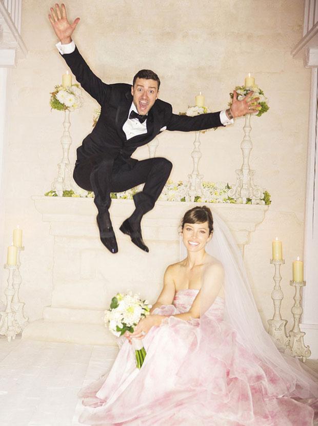 Justin Timberlake and Jessica Biel wedding photo