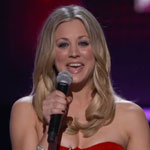 Kaley Cuoco presenting the People's Choice Awards 2012