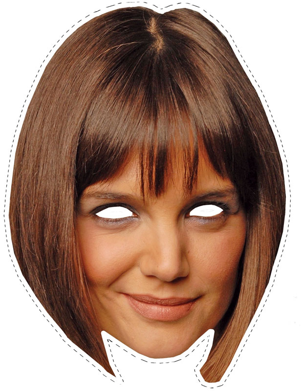 Cut Out Katie Holmes Mask