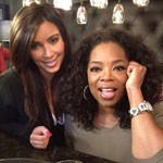 Kim Kardashian and Oprah Winfrey