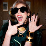 Lady Gaga with her alleged 'engagement ring'