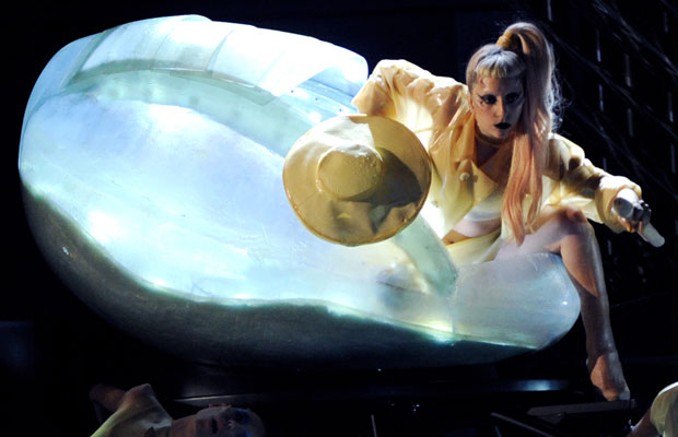 Lady Gaga in Egg at the 2011 Grammy awards