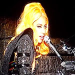 Lady Gaga performing live in New Zealand