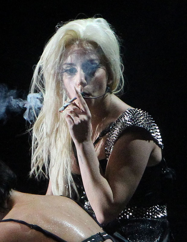 Lady Gaga smoking weed