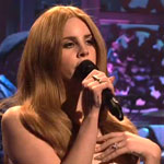 Lana Del Ray performing on Saturday Night Live