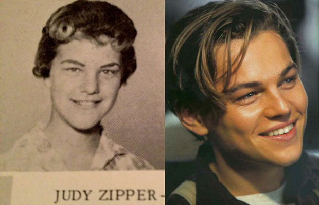 Leonardo DiCaprio and female doppelganger Judy Zipper