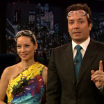 Lucy Liu and Jimmy Fallon
