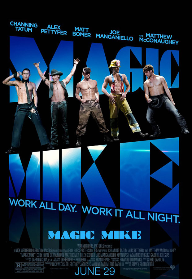 Magic Mike poster featuring Channing Tatum topless