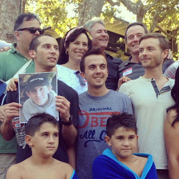Malcolm In The Middle family cast in 2012