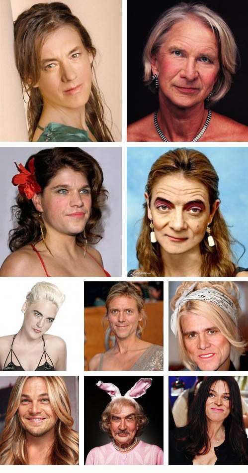 Male celebrities as females