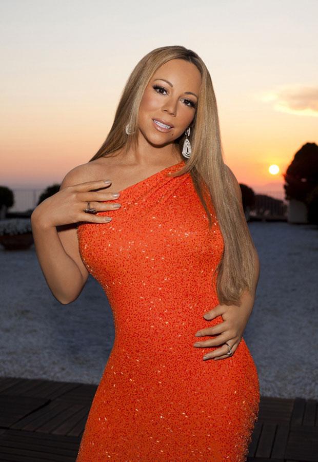 "Mariah Carey in a really awkward looking ""American Idol"" promo pic"