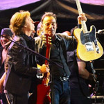 Bruce Springsteen and Paul McCartney performing at Hard Rock Calling in London