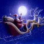 Santa Sleigh in the sky