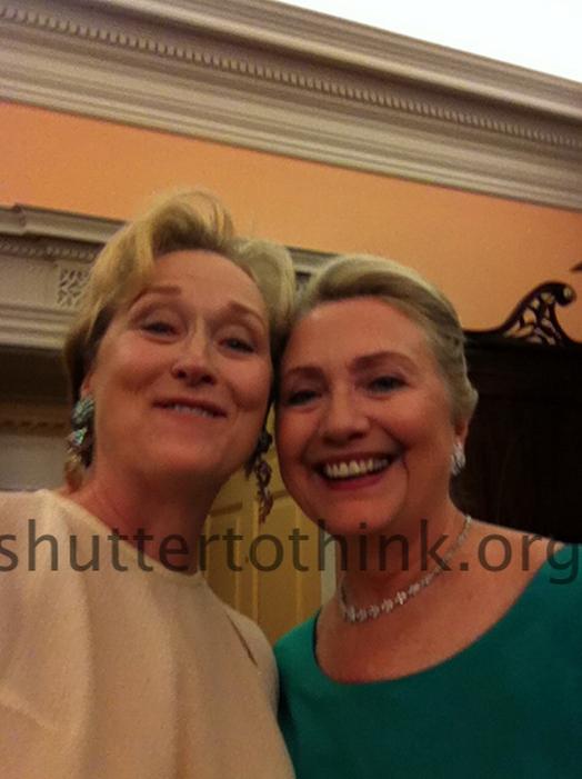 Meryl Streep and Hilary Clinton