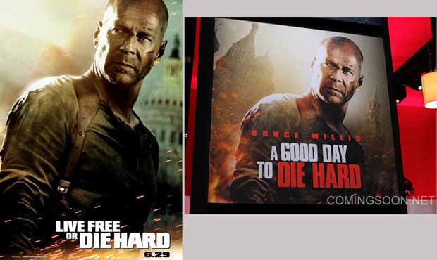 New Die Hard poster copies the previous film