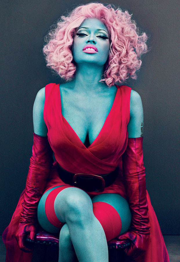 Nicki Minaj in Blue for Vogue Magazine