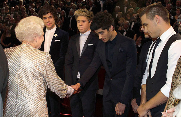 One Direction and Queen Elizabeth
