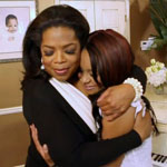 Oprah Winfrey and Bobbi Kristina