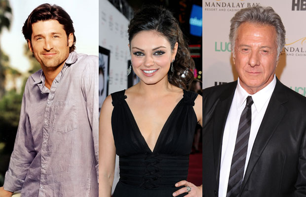 Patrick Dempsey, Mila Kunis and Dustin Hoffman