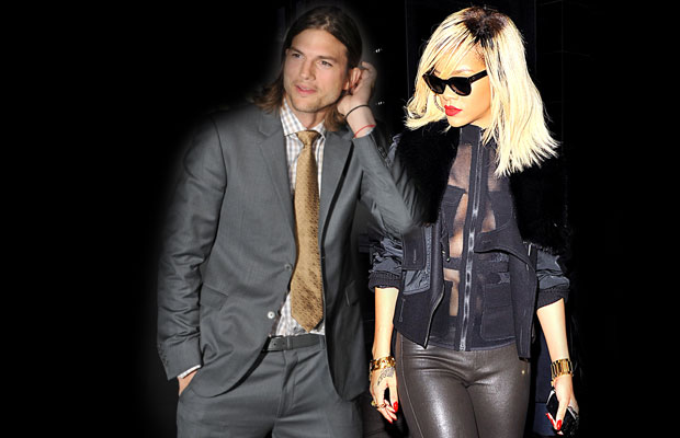 Are rihanna and ashton kutcher really dating