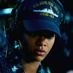 Rihanna in the movie Battleship