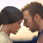 Rihanna and Chris Martin from Coldplay