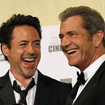 Robert Downey Junior and Mel Gibson