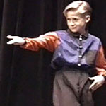 Nine year old Ryan Gosling dancing in Mormon talent show