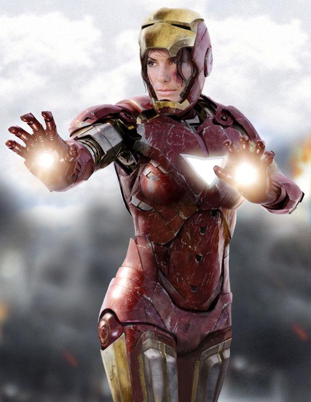 Sandra Bullock as Iron Woman