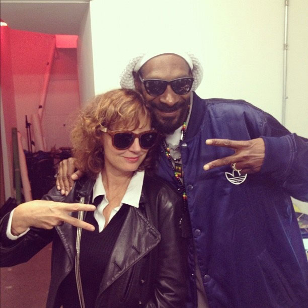 Snoop Lion and Susan Sarandon for the win!
