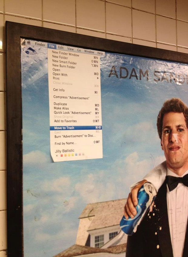 That's My Boy Poster Hilariously Vandalised