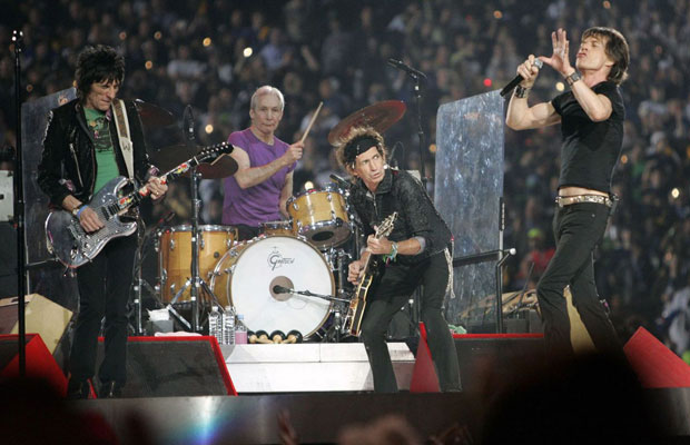 The Rolling Stones playing live