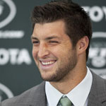 Tim Tebow at Jets Press Conference