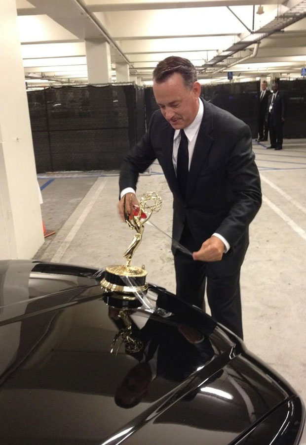 Tom Hanks Taped His Emmy To His Car And Took It For A Joyride