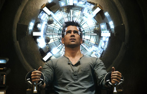 Total Recall film still featuring Colin Farrell