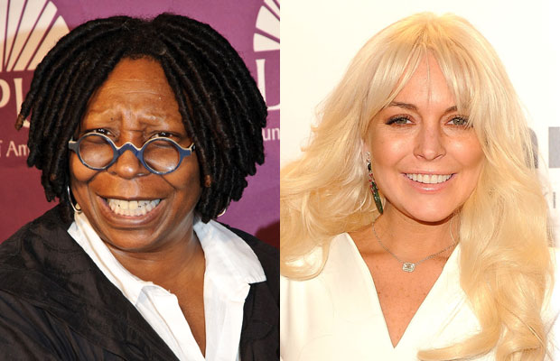 Whoopi Goldberg and Lindsay Lohan