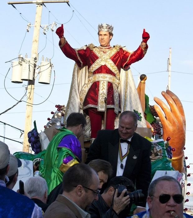 Will Ferrell as the King of Mardi Gras