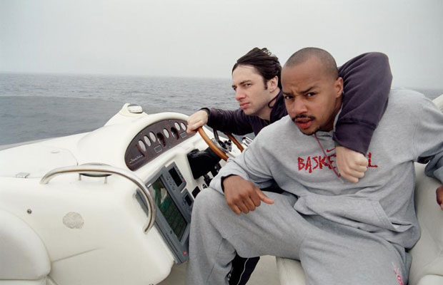 Scrubs Zach Braff on a boat